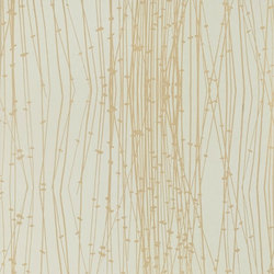 Reeds spring green/gold wallpaper | Wallcoverings | Clarissa Hulse