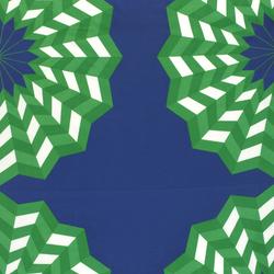 Fläkta green/blue interior fabric | Tejidos decorativos | Marimekko