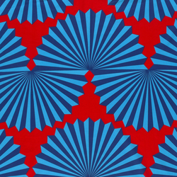 Forma red/blue interior fabric | Curtain fabrics | Marimekko