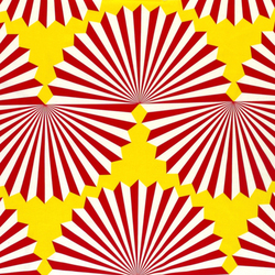 Forma yellow/red interior fabric | Curtain fabrics | Marimekko