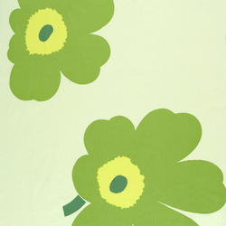 Juhla Unikko light green interior fabric | Curtain fabrics | Marimekko