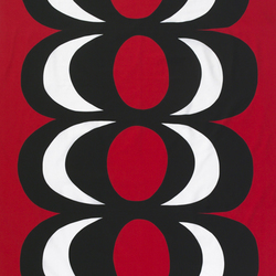 Kaivo black/red interior fabric | Curtain fabrics | Marimekko
