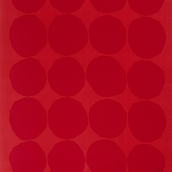 Kivet red interior fabric | Curtain fabrics | Marimekko