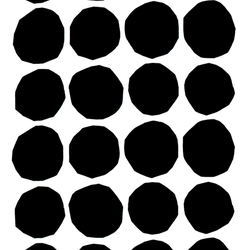 Kivet black/white interior fabric | Curtain fabrics | Marimekko
