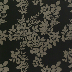 Kukkula black interior fabric | Tessuti tende | Marimekko