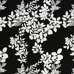 Kukkula black/white interior fabric | Curtain fabrics | Marimekko