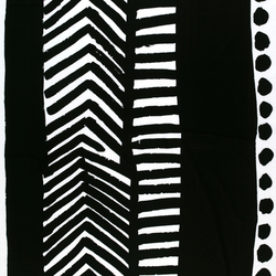 Käki black interior fabric | Tessuti tende | Marimekko