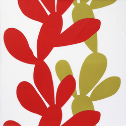 Kaktus red interior fabric | Curtain fabrics | Marimekko