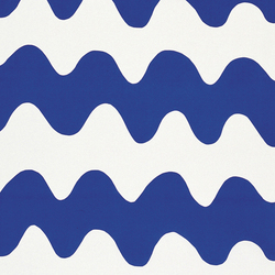Lokki blue interior fabric | Tejidos decorativos | Marimekko