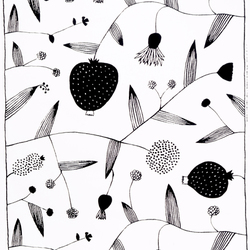Lompolo white/black interior fabric | Curtain fabrics | Marimekko