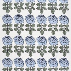 Maalaisruusu blue interior fabric | Curtain fabrics | Marimekko