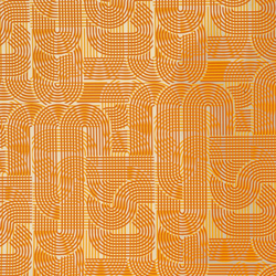 Circuit tangerine wallpaper | Wall coverings / wallpapers | Flavor Paper