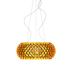 Caboche suspension big yellow-gold | Suspended lights | Foscarini
