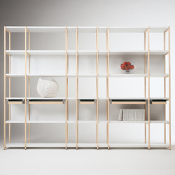 Solaio Bookcase | Office shelving systems | CASAMANIA-HORM.IT