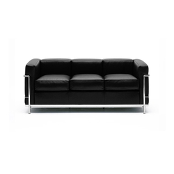 LC2 3-seater sofa | Sofás lounge | Cassina