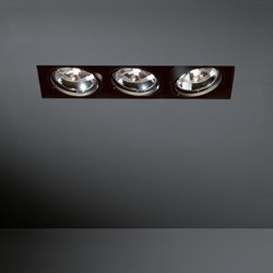 Multiple trimless 3x AR111 GE | Spotlights | Modular Lighting Instruments