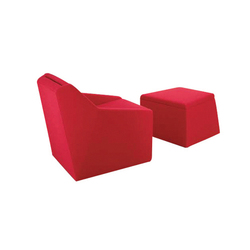 Fritz Chair/Ottoman | Poltrone | Dune