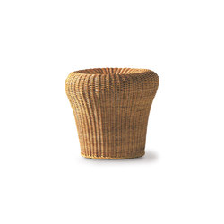E 14 rattan stool | Pufs | Richard Lampert