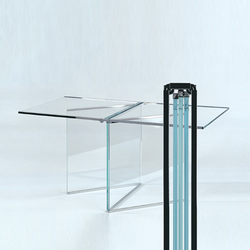 Tio Foldable Glass Side Table | Coffee tables | Gioia