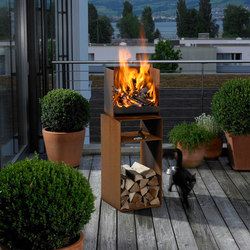 CUBE | Gartenfeuerstellen | Attika Feuer