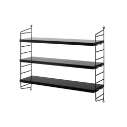string pocket black | Shelving | string furniture
