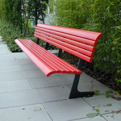 Campo Bench with backrest | Exterior benches | BURRI