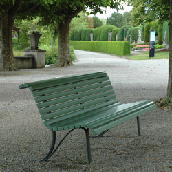 Klosterhof with backrest | Exterior benches | BURRI