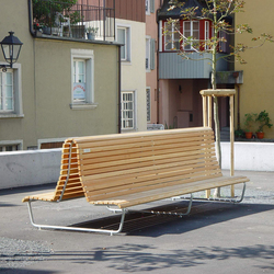 Landi special double with low backrest | Exterior benches | BURRI