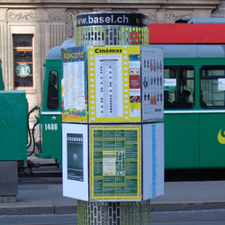 Small Advertising Pillar Basel | Media displays | BURRI