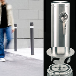 Public Bollard removable barrier post – stainless steel | Bornes | BURRI