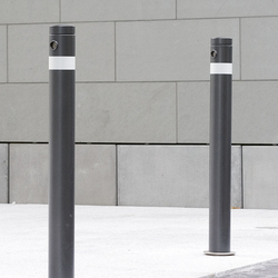 Public Bollard removable barrier post – Uni & Millenium | Dissausori | BURRI