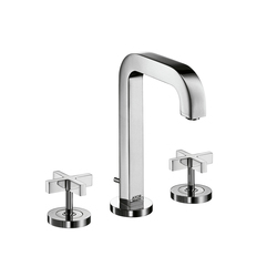 AXOR Citterio 3-Hole Basin Mixer with cross handles and spout 140mm DN15 | Wash-basin taps | AXOR