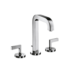AXOR Citterio 3-Hole Basin Mixer with lever handles and spout 140mm DN15 | Wash basin taps | AXOR
