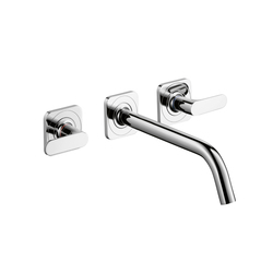 AXOR Citterio 3-Hole Basin Mixer for concealed installation with escutcheons and spout 226mm DN 15 wall mounting | Wash basin taps | AXOR