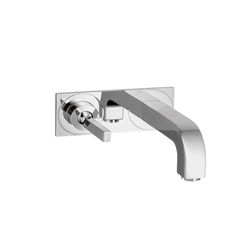 AXOR Citterio Single Lever Basin Mixer for concealed installation with plate and spout 165mm wall mounting DN15 | Wash basin taps | AXOR