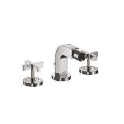 AXOR Citterio 3-Hole Bidet Mixer with cross handles DN15 | Bidet taps | AXOR