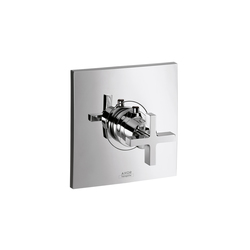 AXOR Citterio Highflow Thermostatic Mixer for concealed installation with cross handle | Shower controls | AXOR