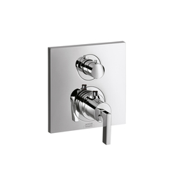 AXOR Citterio Thermostatic Mixer for concealed installation with shut-off valve and lever handle | Shower controls | AXOR