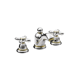 AXOR Carlton 3-hole basin mixer for hand basins with cross handles DN15 | Wash basin taps | AXOR