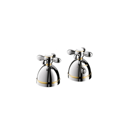 AXOR Carlton 2-hole thermostatic rim-mounted bath mixer with cross handles DN15 | Bath taps | AXOR