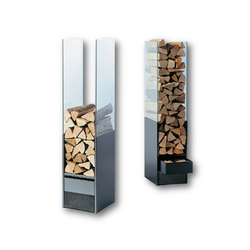 Wood Storage Unit Glass | Fireplace accessories | Tonwerk Lausen AG