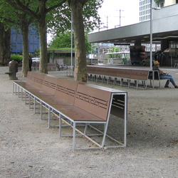 Landscape bench with backrest HPL | Exterior benches | BURRI