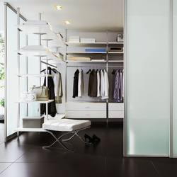 Uno interior closet storage system | Room dividers | raumplus