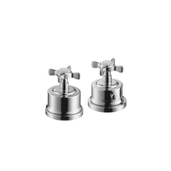 AXOR Montreux 2-Hole Thermostatic Rim-Mounted Bath Mixer DN15 | Bath taps | AXOR