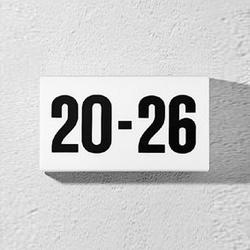 House number luminaire 3774   Lámparas de pared   BEGA