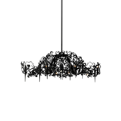 Flower Power chandelier oval | Lámparas de techo | Brand van Egmond