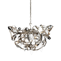 Delphinium chandelier round | Ceiling suspended chandeliers | Brand van Egmond