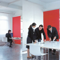 Profil 33 open-plan room divider | Office Pods | Rosso