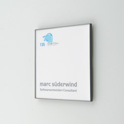 quintessenz Door plate S | Room signs | Meng Informationstechnik