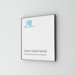 quintessenz Door plate S | Cartelli segnaletici per ambienti | Meng Informationstechnik
